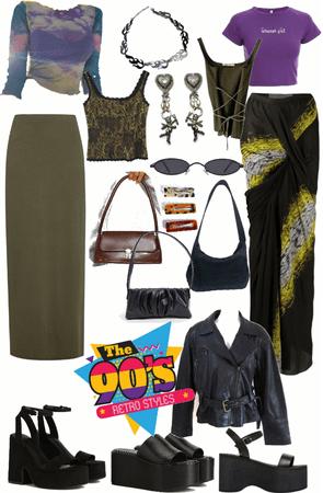 90s maxi skirt