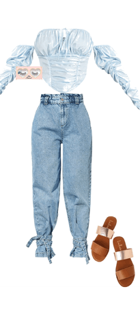 baby blue shirt with jeans