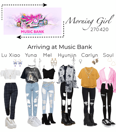 Morning Girl- arriving at music bank