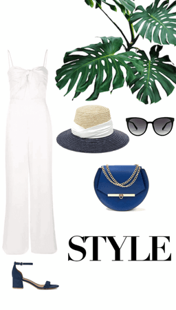 White and Blue Summer Style
