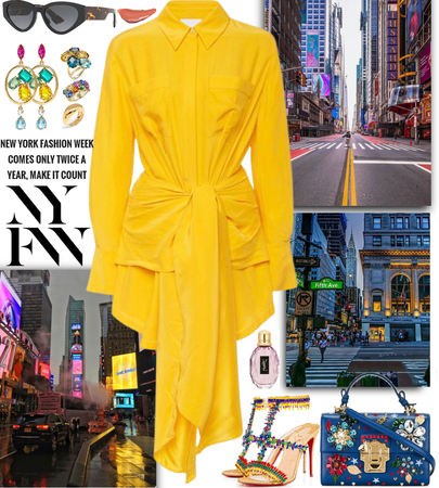 NY Fashion Week outfit inspired by street colors