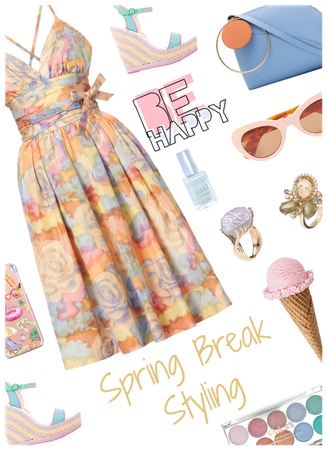 Spring Break styling. Pretty pastels