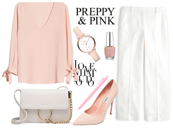 Pink and White Teacher Fashion