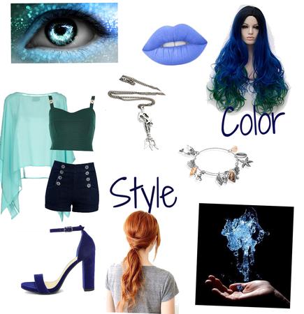 Neera Blue OC part mutant daughter of Neptune