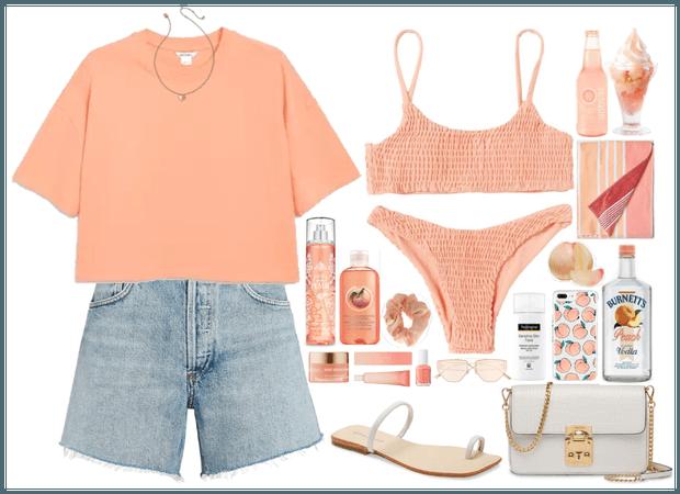 Denim Short + peach