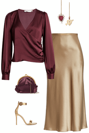 Burgundy &Gold Luxury