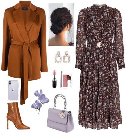 lilac and caramel