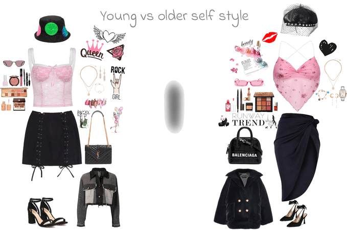 Young vs older self style