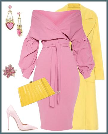 pink / yellow