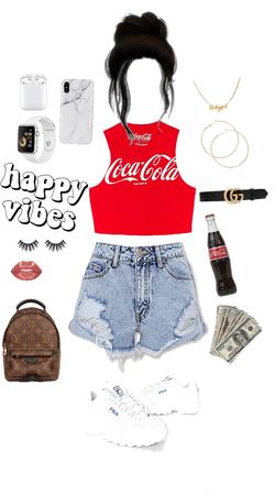 basic Coke look