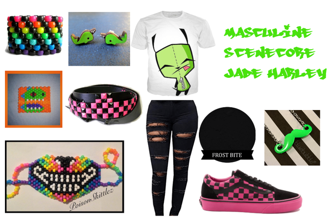 Masculine Scenecore Jade Harley
