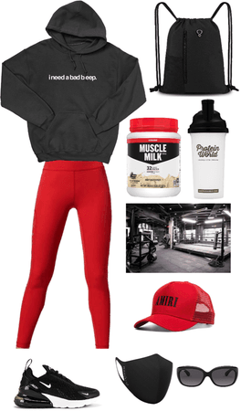 addison rae inspired gym outfit
