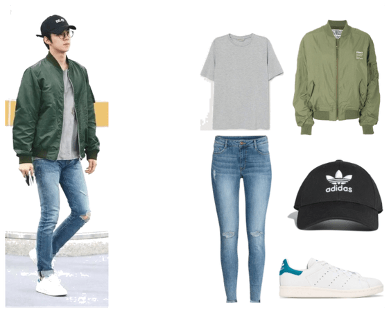 Female outfit of Sehun airport outfit