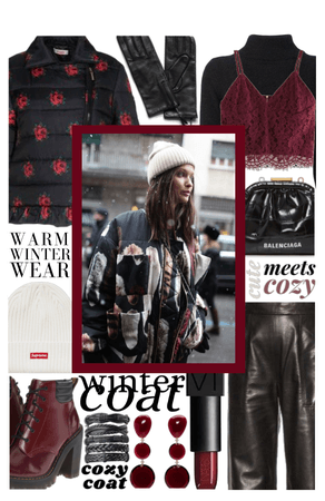 COOL COAT: Leather in the winter