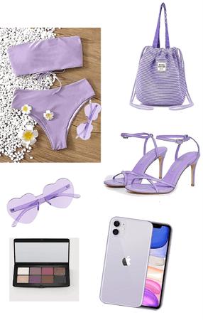 purple swim