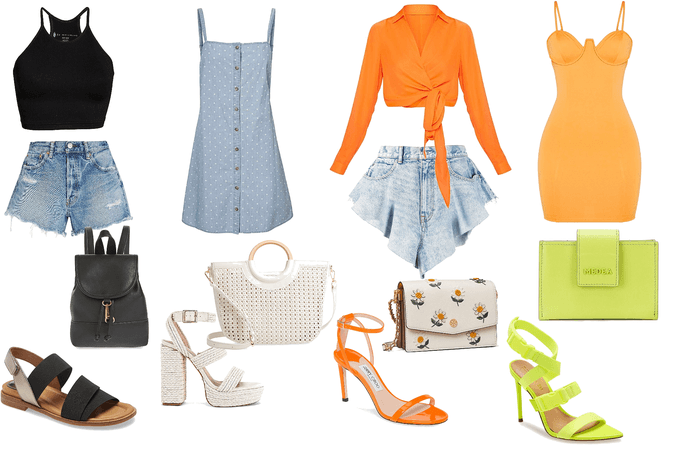 Spring Break! Day & Night outfits