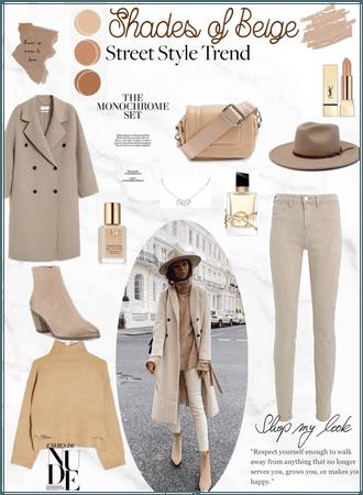 Winter street style-Shades of beige