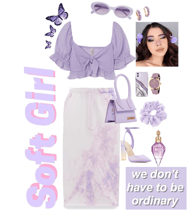 Soft girl with Purple outfit