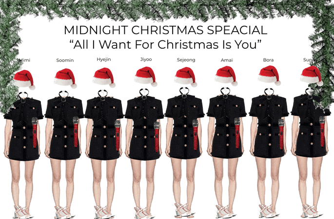 """MIDNIGHT CHRISTMAS SPECIAL STAGE PERFORMING """"ALL I WANT FOR CHRISTMAS IS YOU"""""""