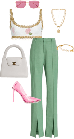 pink green and fancy