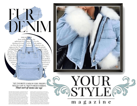 FUR DENIM ~ JEAN ON JEAN