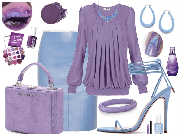 Powder Blue and Lavender