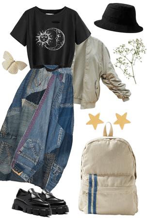 styling jean skirt!