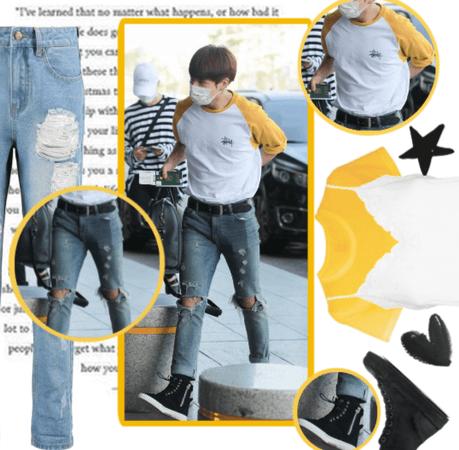 jungkook´s airport fashion inspo