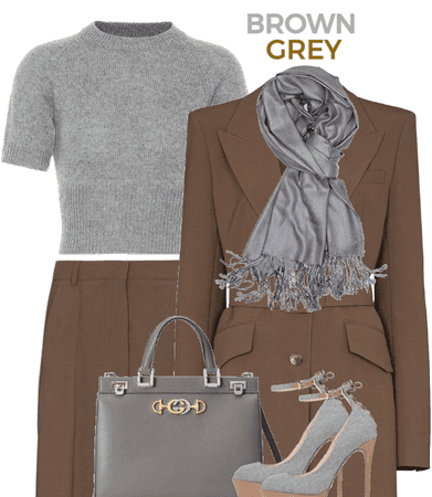 BROWN AND GREY