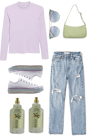 green and purple aesthetic :)