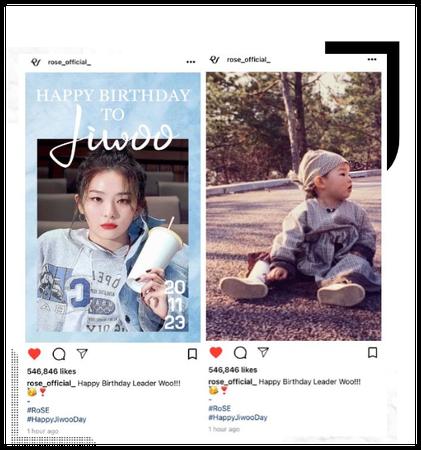 {RoSE} [Jiwoo] Birthday Instagram Post
