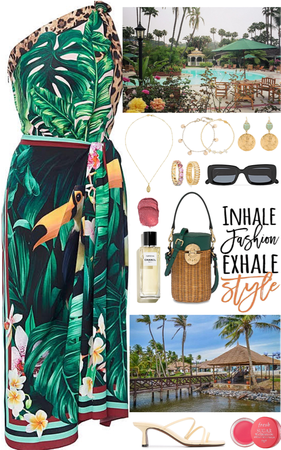 Outfit for a day in a luxury resort in the summer