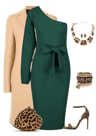 bodycon midi dress / green