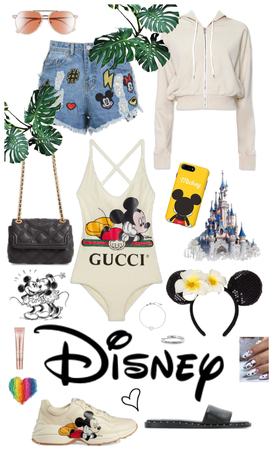 DISNEY swimming outfit with cover up clothes