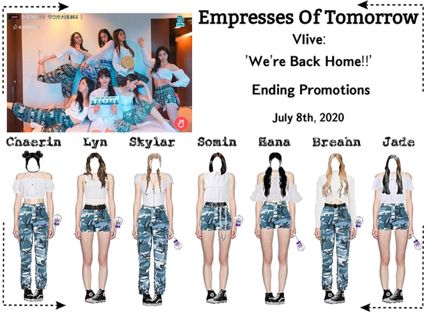 EOT(내일의 황후) | Vlive: 'We're Back Home!!' + Ending Promotions