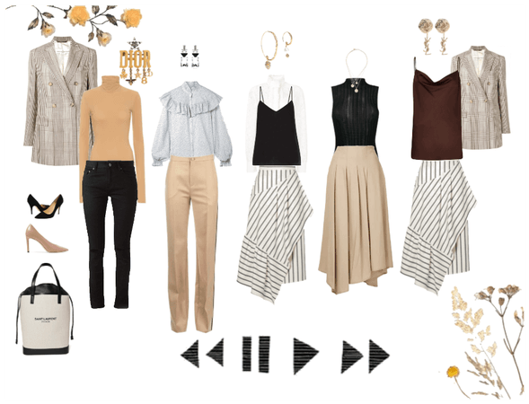 Work week of outfits