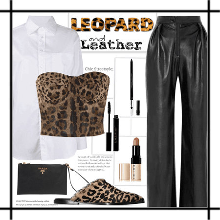 a leopard in leather
