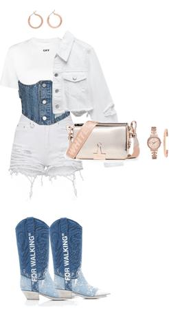 jean/white elegance off-white ed.