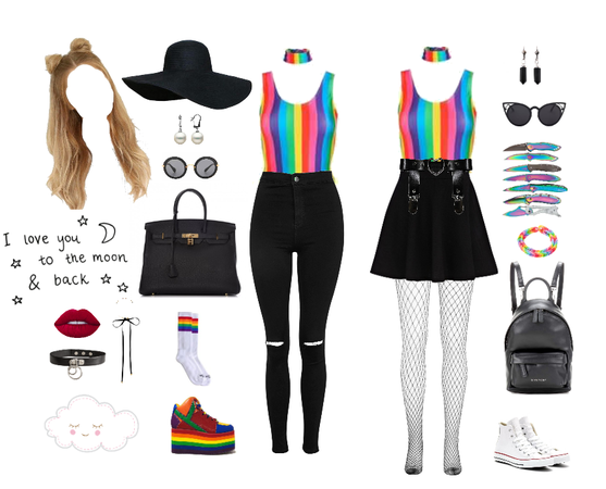 Black, White and Rainbow