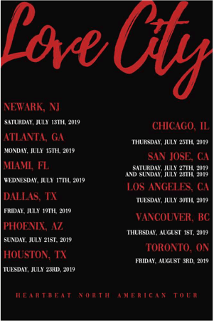 [HEARTBEAT] LOVE CITY NORTH AMERICAN TOUR DATES