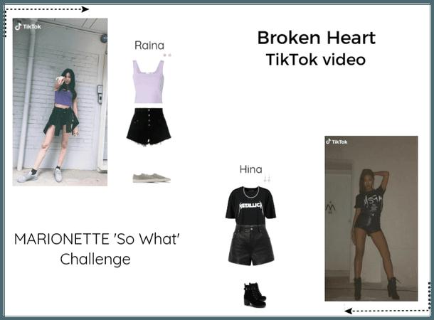 Broken Heart Raina & Hina TikTok challenge