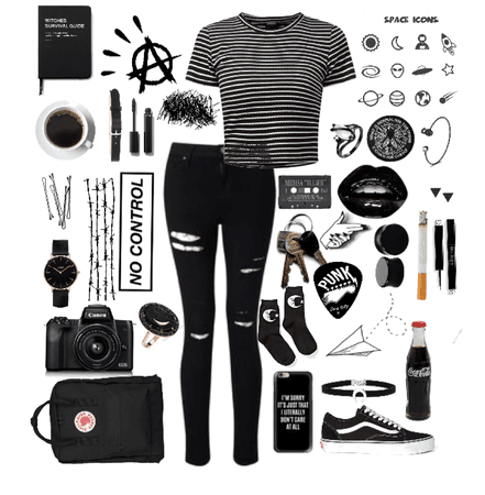 "Black // ""I'll stop wearing black when they make a darker color"""