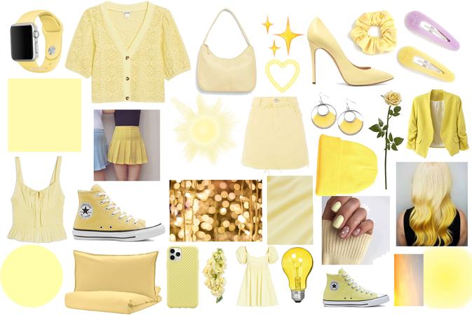 Yellowy fashion collage 💛💛💛