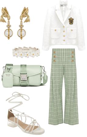 green, white & gold