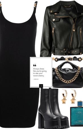 Versace all black