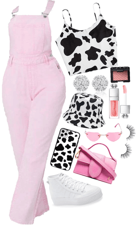 pink with a dab of cow 💕