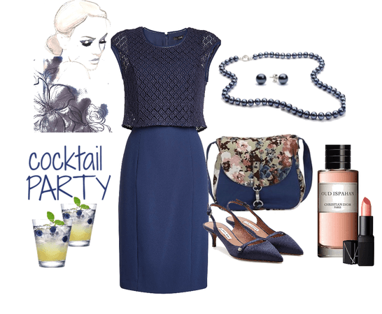 Navy Dress Cocktail Party