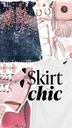 Statement Skirt Chic💓👌🏼