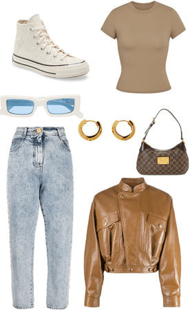 neutral colored outfit