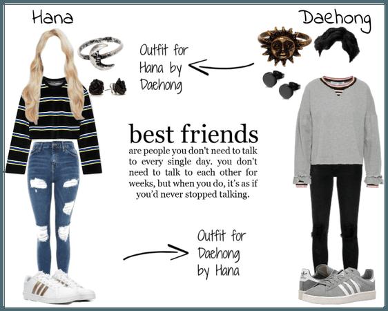 Childhood Besties: Gohana & Daehong